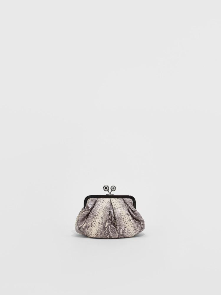 Small python-print leather Pasticcino Bag Weekend Maxmara