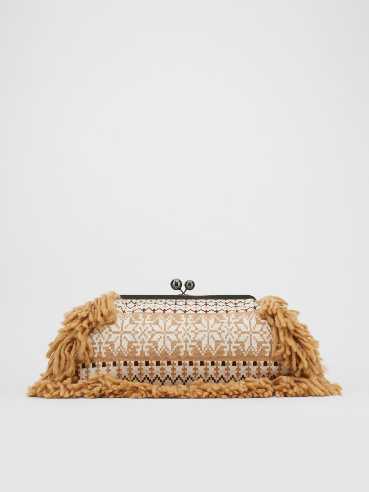 Large Fair Isle knit Pasticcino bag Weekend Maxmara
