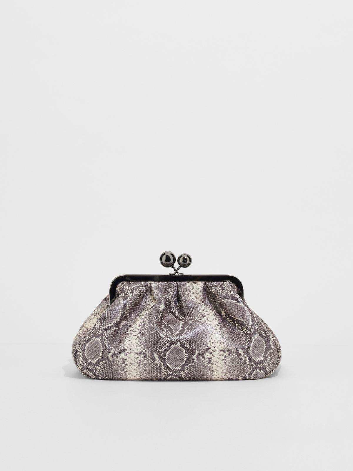 Medium python-print leather Pasticcino Bag Weekend Maxmara