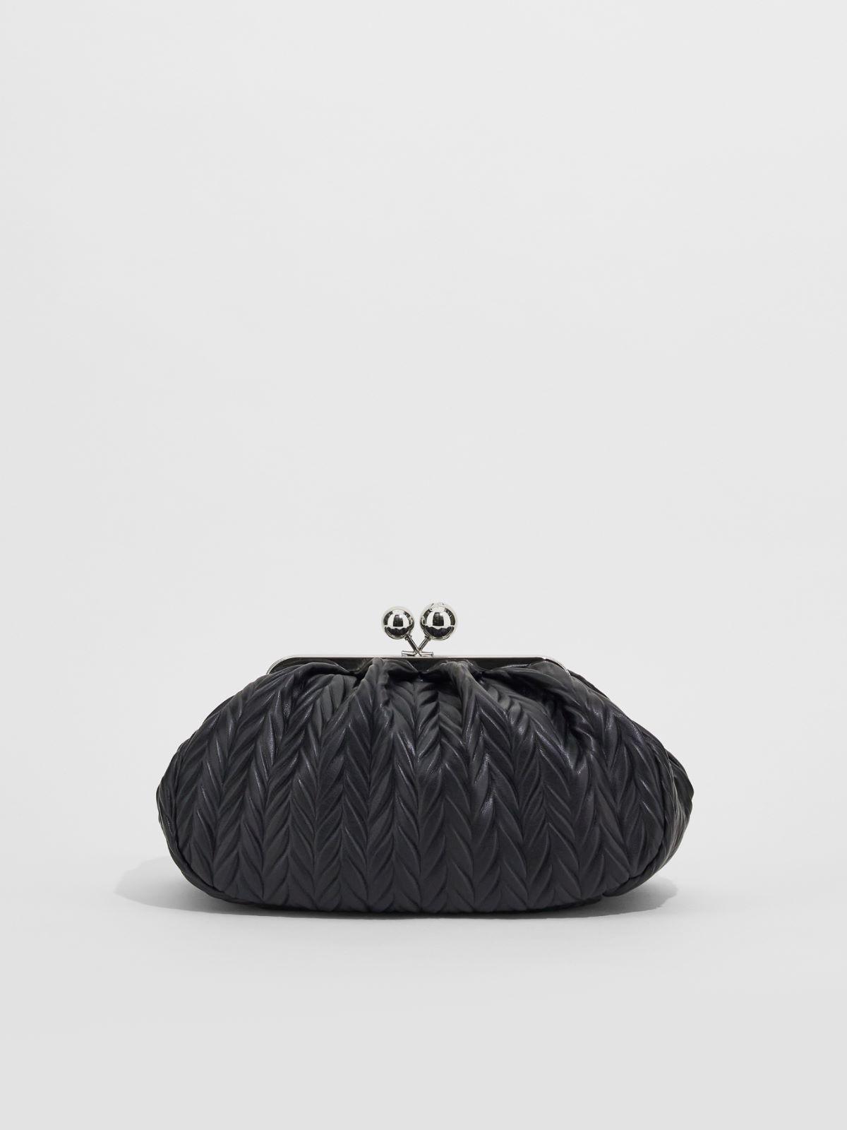 Medium pleated fabric Pasticcino Bag with rhinestones Weekend Maxmara