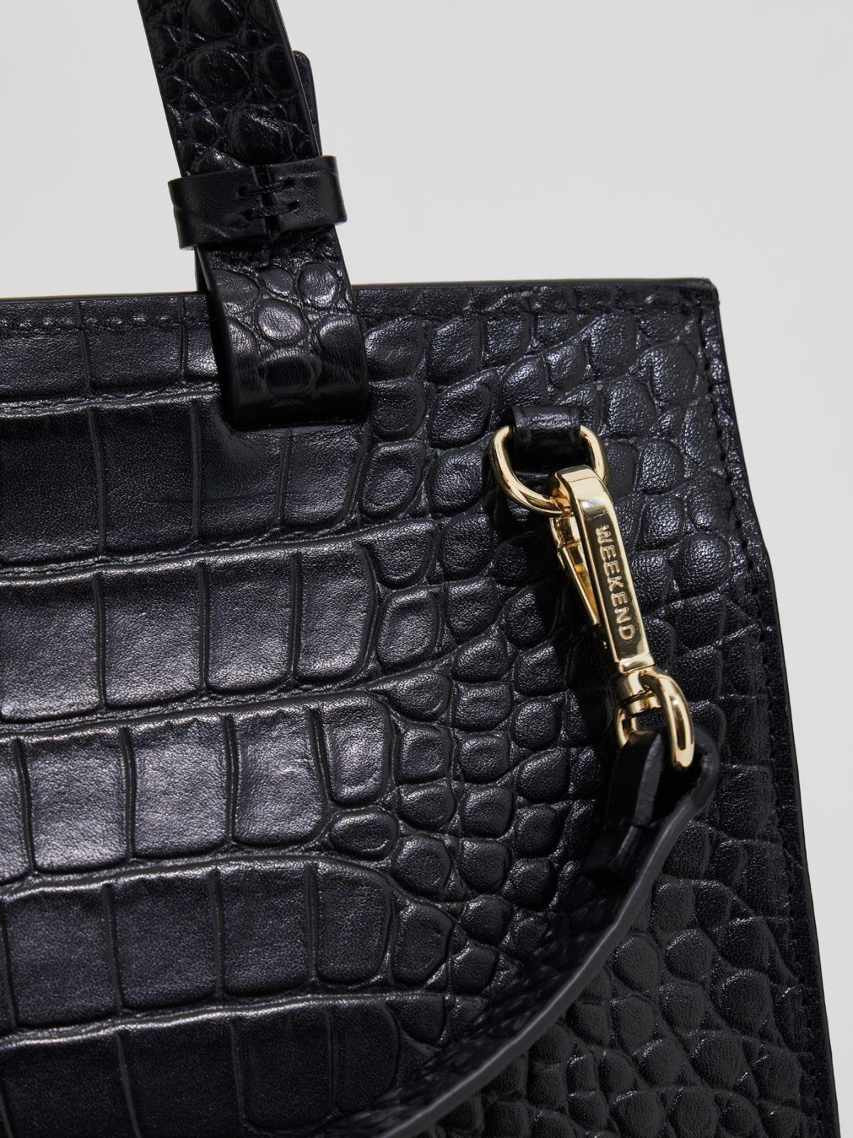Handbag in crocodile print leather Weekend Maxmara