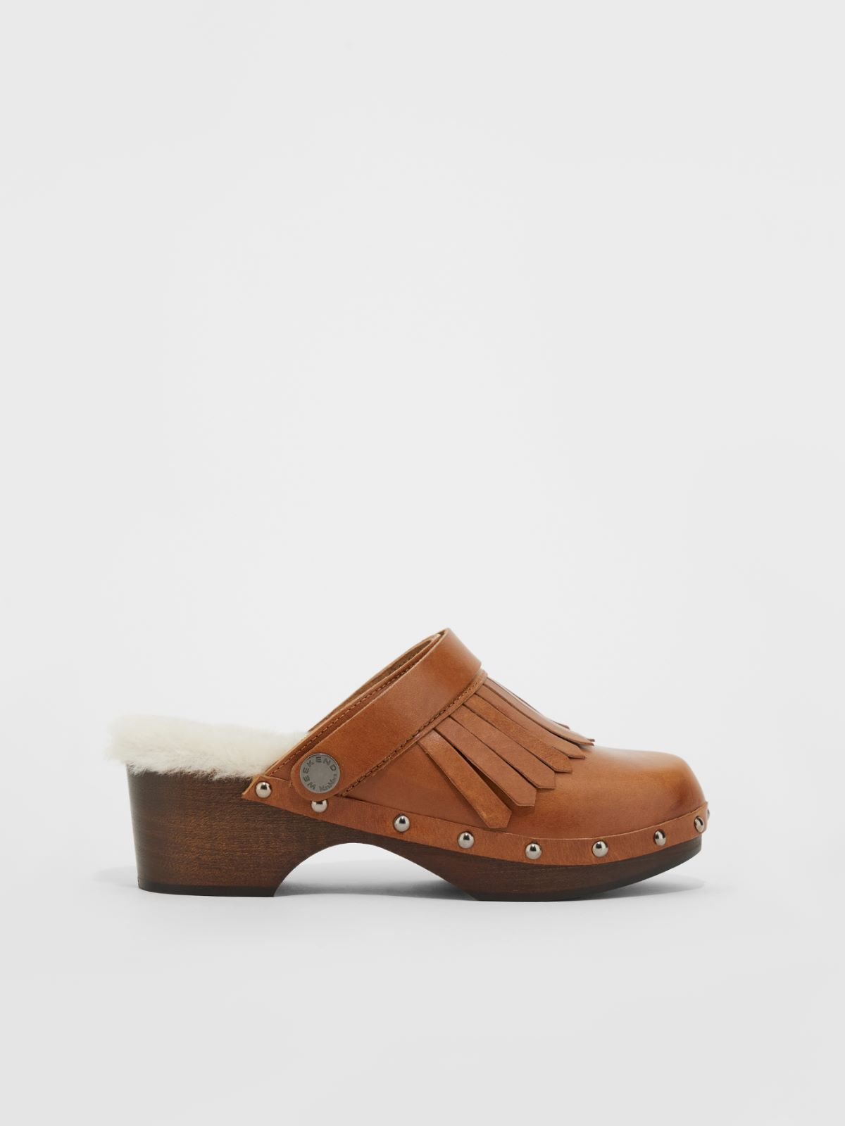 Leather and wood clogs Weekend Maxmara