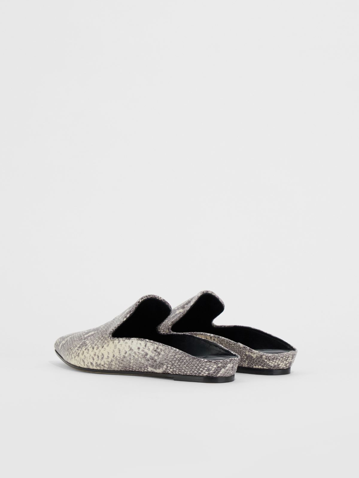 Python print leather mules Weekend Maxmara