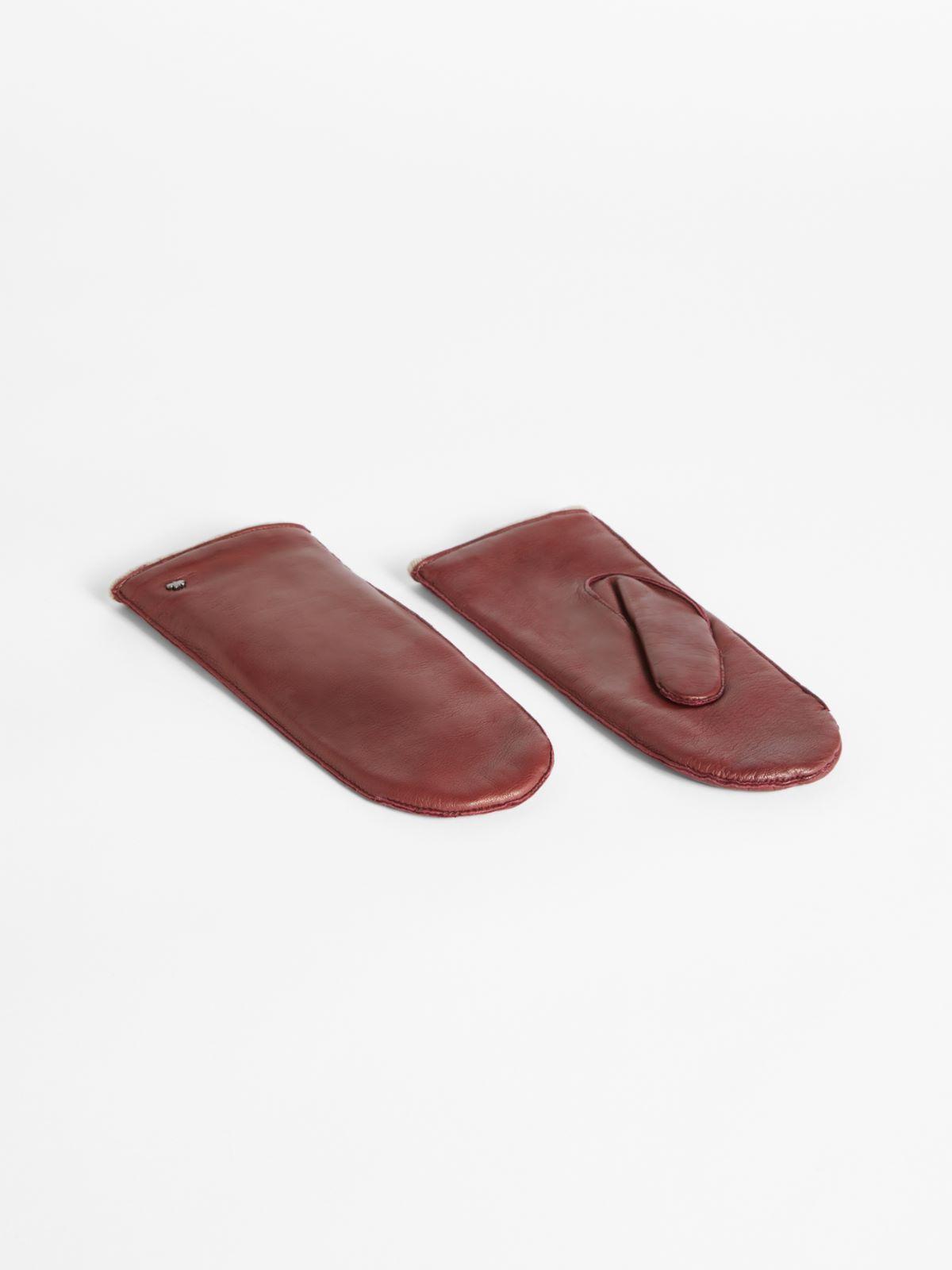 Nappa leather mittens Weekend Maxmara