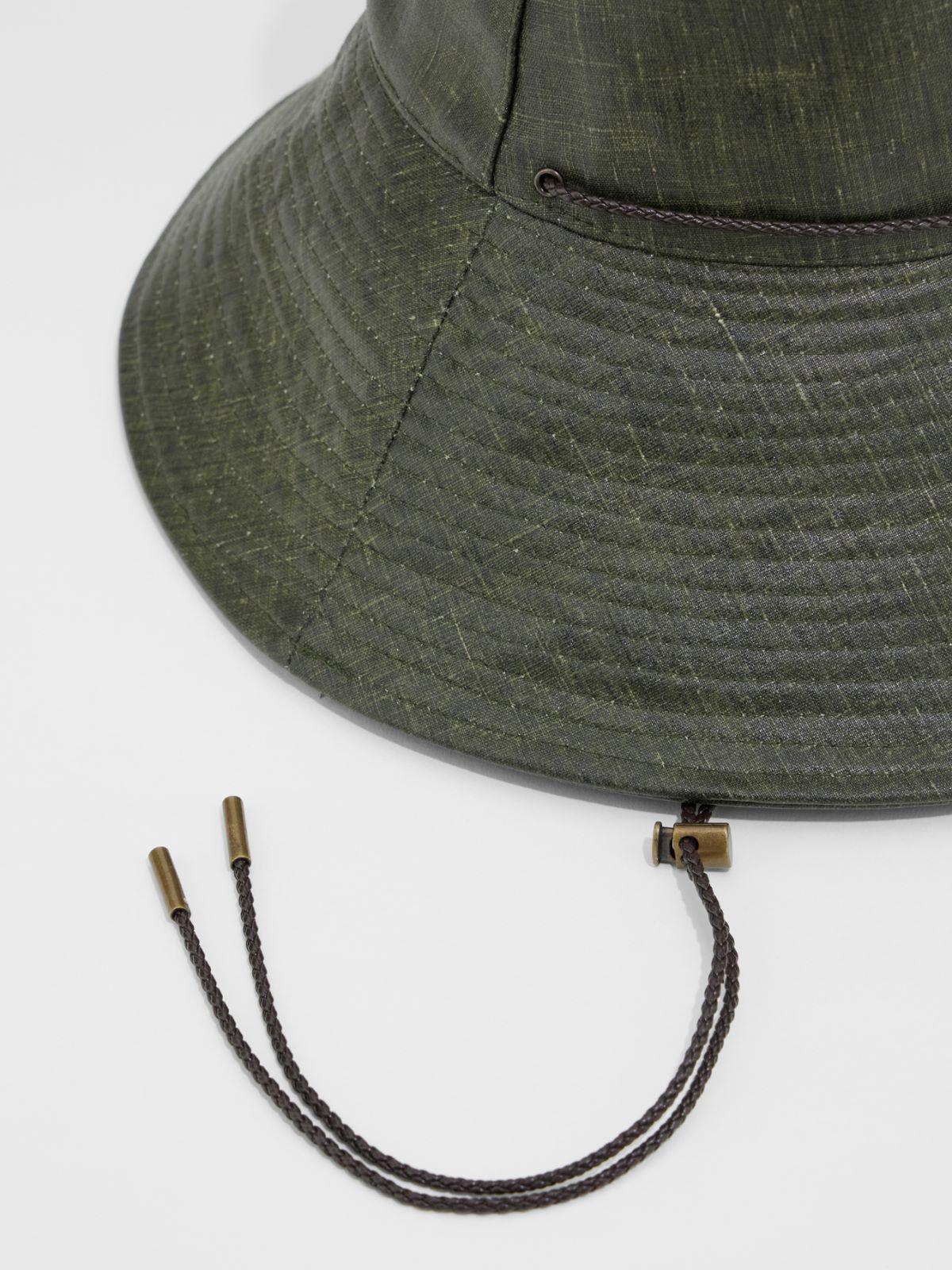 Sandblasted waxed fabric hat Weekend Maxmara