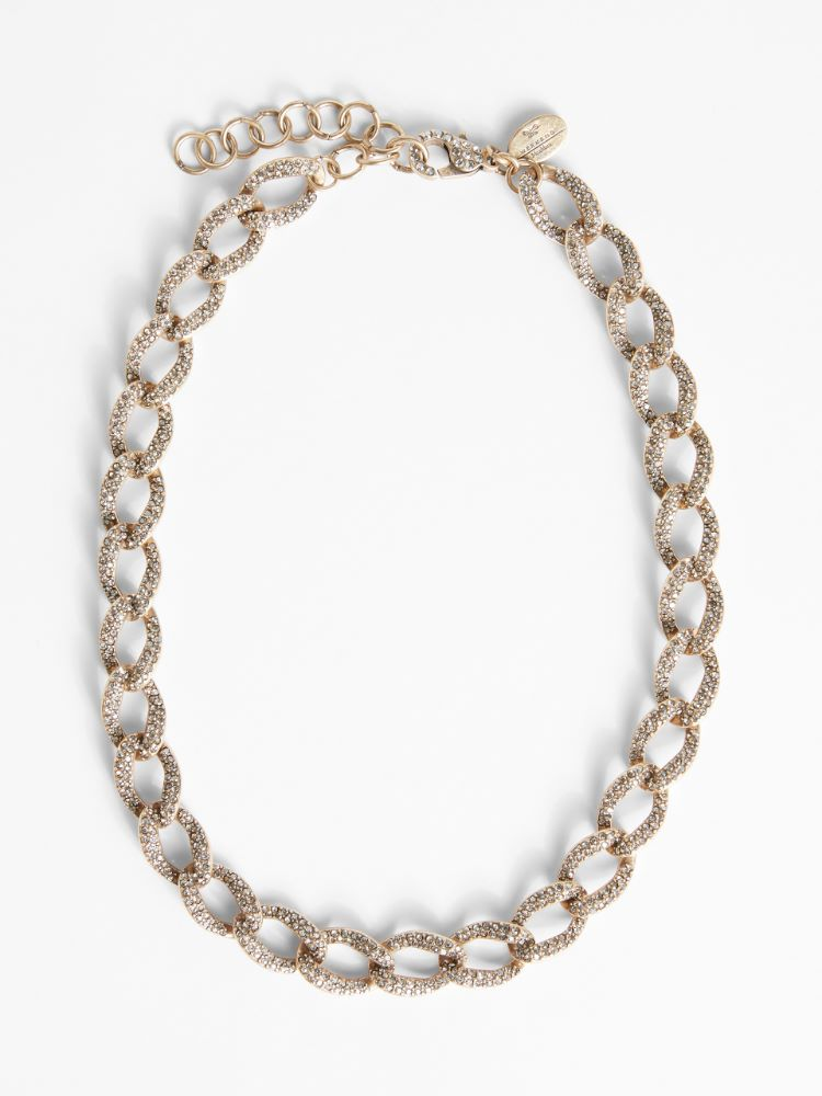 Glass and rhinestone chain necklace Weekend Maxmara