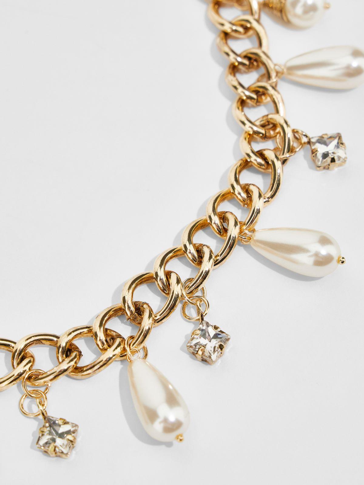 Bead and rhinestone chain necklace Weekend Maxmara