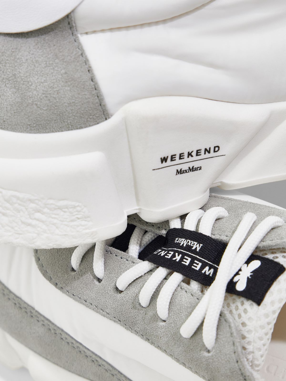 Leather nylon and suede trainers Weekend Maxmara