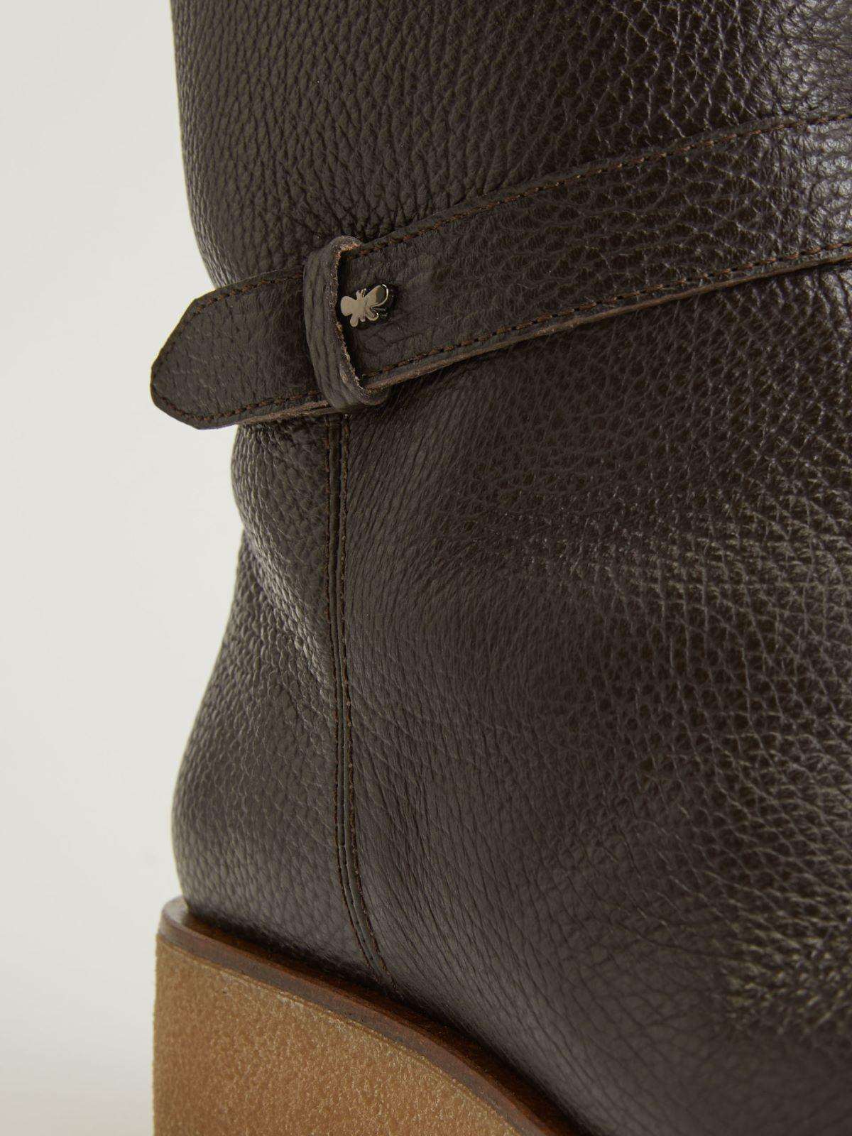 Deer print leather ankle boots Weekend Maxmara